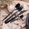 高档304材质 ZARA系列 酷黑西餐不锈钢刀叉勺 酒店用品