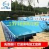厂家定做大型支架游泳池钓鱼戏水池充气游泳池养鱼池广场生意泳池