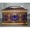 景德镇陶瓷骨灰盒 殡葬用品 高温青花瓷棺材 瓷棺 厂家直销