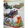 新款充气城堡滑梯蹦床直销广场充气游乐园 儿童充气游乐设备厂