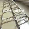 不锈钢7卡位安全防腐自行车停车架厂家定制供应