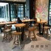 西安吧椅咖啡厅实木吧椅生产定制
