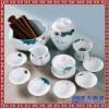 田园风功夫茶具套装中式茶道整套茶器杯壶盖碗可定制LOGO
