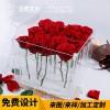 厂家直销亚克力制品爆款送女友花盒有机玻璃花盒收纳盒