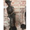 美国西部牛仔经典造型不锈钢雕塑摆件