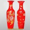婚庆礼品景德镇大花瓶批发 定制中国红陶瓷大花瓶礼品