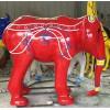 玻璃钢彩绘吉祥如意大象立体摆件