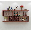 创意现代壁挂式红酒架实木悬挂式客厅展示架定制餐厅家用墙壁酒柜