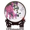 中式客厅摆件瓷盘 景德镇陶瓷礼品瓷盘