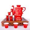 中式家用陶瓷酒杯 可定做陶瓷自动酒具 小酒盅白酒杯套装