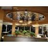 重庆连锁酒店制定水波纹天花吊顶 黑钛水波纹装饰效果图特攻定制