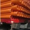 河北腾达167电力管 橘红色电缆保护管167地埋电力通信管