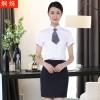 大学生面试职业套装韩版免烫职业女裙套装短袖翻领女士衬衫定制