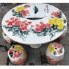 户外庭院摆设 陶瓷桌子 高档手绘花鸟阳台桌凳 鼓凳绣墩凉墩