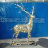 淮南畅销LED灯鹿雕塑 装饰鹿摆件 不锈钢梅花鹿