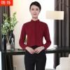 湖南湘潭工作服定制女士衬衫宽松大码职业套装