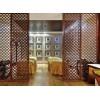 不锈钢屏风隔断玫瑰金镂空雕花酒店花格现代金属中式客厅玄关折叠