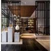 定制不锈钢屏风雕花金属现代简约客厅酒店欧中式玄关镂空装饰隔断