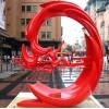 威海广场抽象夸父逐日雕塑 不锈钢景观梦境故事雕塑