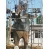 城市园林不锈钢切面熊雕塑 切面抽象动物定制