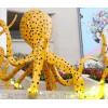 不锈钢彩绘章鱼雕塑 烤漆工艺八爪鱼雕塑工厂制作