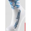 川崎 袜子羽毛球袜运动袜透气防滑KW6103蓝色