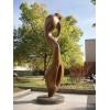 洛阳 不锈钢电镀抽象雕塑 公园绿化仿铜摆件