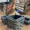 宋店乡水泥预制阶梯式生态护坡模具箱体式景观护坡模具厂家京伟