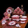 定制陶瓷餐具批发 56头青花瓷骨瓷餐具套装