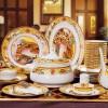 景德镇清明上河图骨瓷餐具,精美珐琅彩餐具礼品