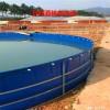 2020厂家直销镀锌钢板帆布鱼池-圆形帆布鱼池定做价格